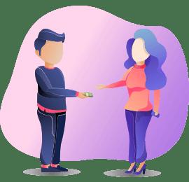 Money exchange Illustration